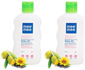 Mee Mee Baby Oil - 200 ml (Pack of 2)