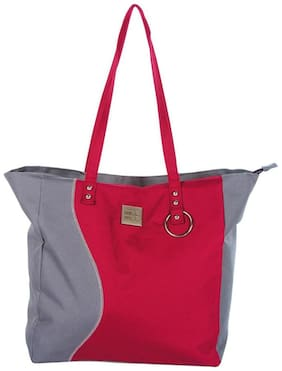 Mee Mee Baby Nursery Diaper Handbag For Moms With Bottle Warmer & Changing Mat (Red)