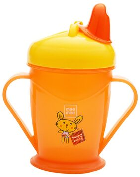 Mee Mee Easy Grip Sipper Cup with Twin Handle (Orange);180 ml