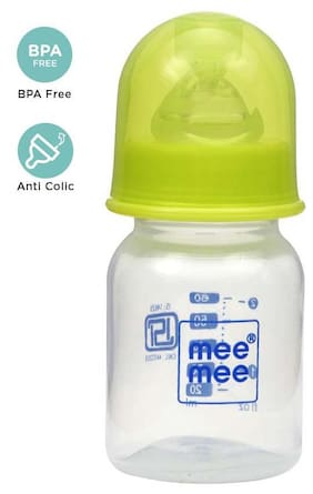 Mee Mee Eazy Flo Premium Baby Feeding Bottle (Green 60 ml)