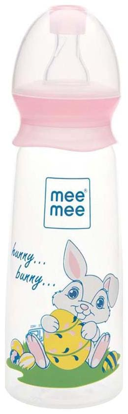 Mee Mee Eazy Flo Premium Baby Feeding Bottle (250 ml Pink)