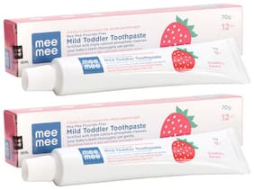 Mee Mee Fluoride-Free Strawberry Flavor Toothpaste 70 gm (Pack of 2)
