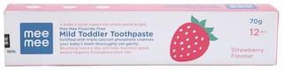 Mee Mee Fluoride-Free Strawberry Flavor Toothpaste 70 g