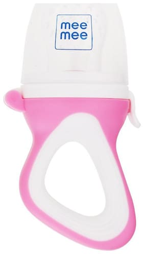 Mee Mee Fruit & Food Nibbler With Silicone Sack (Pink)