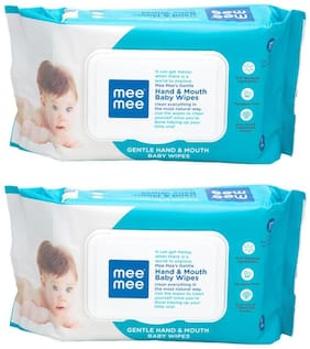 Mee Mee Gentle Hand And Mouth Baby Wipes (72 pcs) Pack of 2