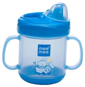 Mee Mee No Spill Sipper Cup with Double Handle (Blue) 180 ml