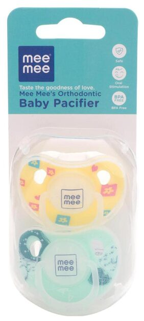Mee Mee Orthodontic Baby Pacifier (Yellow/Green)
