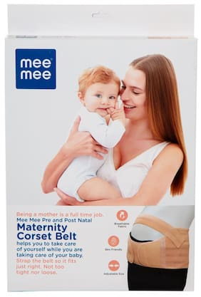 Mee Mee Pre and Post Natal Maternity Corset Belt (L;Beige)