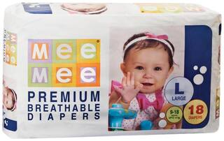Mee Mee Premium Large Size Diapers (18 Count)