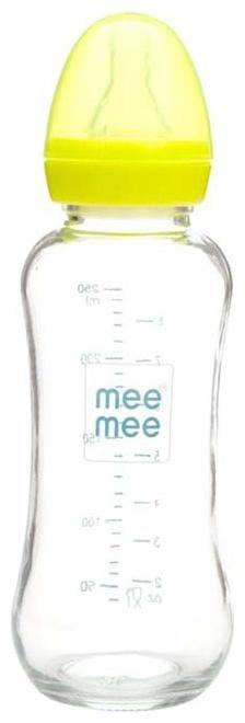 Mee Mee Premium Glass Feeding Bottle (Green) 250 ml