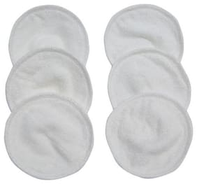 Mee Mee Reusable Absorbent Maternity Breast Pads - White 6 pcs
