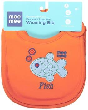 Mee Mee's Absorbent Weaning Bibs (Orange) Pack of 3