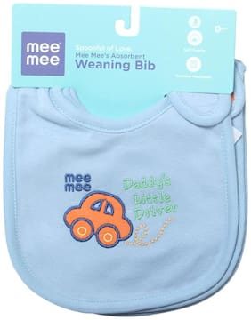 Mee Mee's Absorbent Weaning Bibs (Blue) Pack of 3
