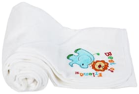 Mee Mee Soft Absorbent Baby Towel with Hood (White)