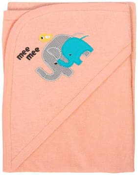 Mee Mee Soft Absorbent Baby Towel With Hood (Peach)