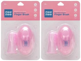 Mee Mee Unique Finger Brush (Pink) Pack of 2