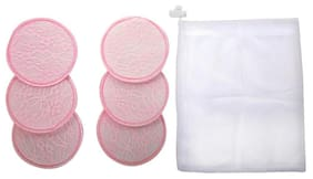 Mee Mee Washable Cotton Maternity Breast Pads (Pink 6 Pieces)