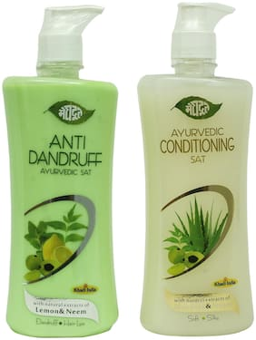 Meghdoot Anti Dandruff & Conditioning Ayurvedic Shampoo Combo 500ml (Pack of 2)