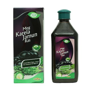 Meghdoot Ayurvedic Meg Karela Jamun Ras 500ml (Pack of 1)