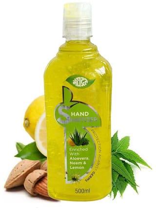 Meghdoot Hand Sanitizer Aloevera Neem and Lemon 500ml (Pack of 1)
