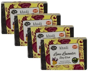 Meghdoot Lime Lavender Body Wash Soap 125g (Pack of 4)