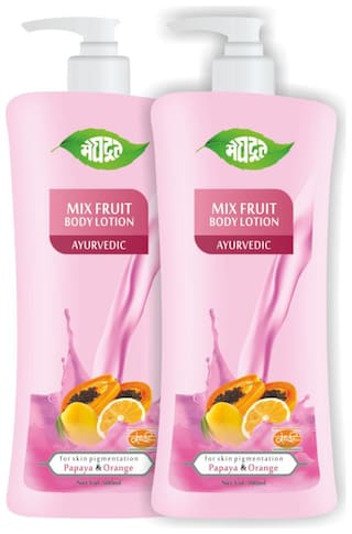 Meghdoot Mix Fruit Body Lotion 500 ml (Pack of 2)