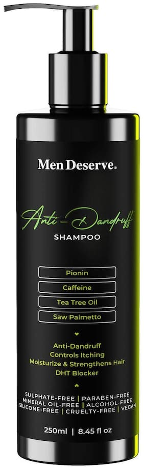 Men Deserve Anti Dandruff Conditioning Shampoo for Men. 250ml (Sulphate free and Paraben free)