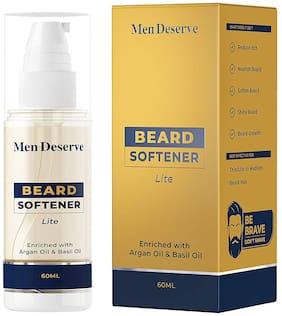 Men Deserve Beard Softener Lite Enriched with Argan Oil and Basil Oil (60ml)