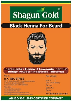 Men's Beard Colour Black 200gm