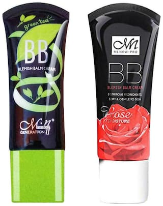 Menow Combo of Rose BB Cream 45ml and Green Tea BB Cream 45ml