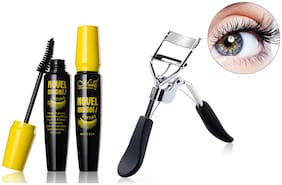 MeNow Novel Mascara 10ml &  Eyelash Curler 15g (Pack of 2)