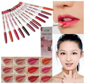 MENOW True Lips Lipliner Pencils (Pack of 12)20Gram