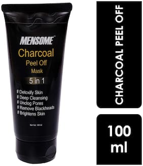 Mensome Blackhead Remover Charcoal Peel-Off Mask, (100 ml)