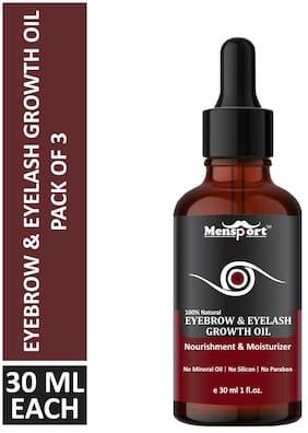 Mensport Eyebrow & Eyelashes oil Combo Pack 3 Bottle of 30 ml(90 ml)