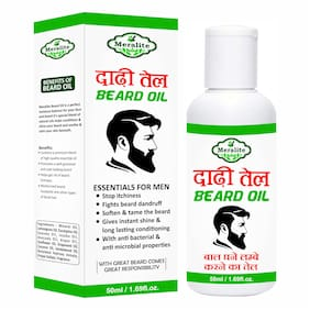 Meralite Beard Oil with Great Beard Growth Softener - Conditioner - Hair Oil -50ml