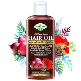 Meralite Onion Hair Oil And Natural Extracts For Hair Growth, Strong And Healthy Hair Oil (100 ml)
