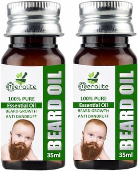 Meralite Smoothening Beard Growth Oil for Men Hair Oil 35 ml (Pack of 2)