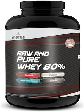 Mettle raw and pure whey 80% 3kg