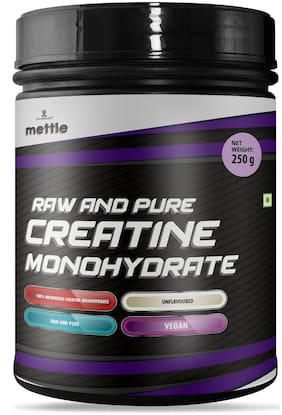 Mettle Raw and Pure Creatine Monohydrate 250 g (Pack of 1)