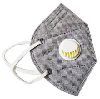 Mexania Anti-Pollution KN95 Mask With Respirator (Grey) (Pack of 2)