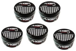 MG5 Japan Strong Hold Hair Wax For Styling Hair 80gm (Pack of 5)