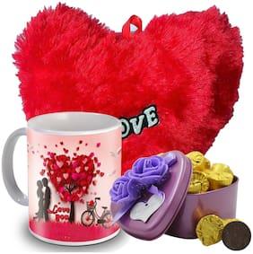 Midiron Chocolate Gift Pack, Milk Chocolate, Heart, Coffee Mug for Valentine Day, Anniversary, Purpose Day (DT-2) (Pack of 3) 90g