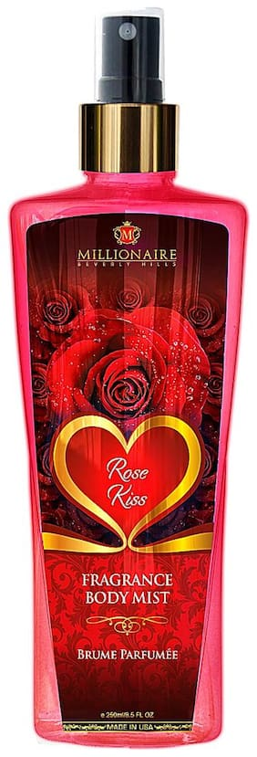 Millionaire Beverly Hills Rose Kiss Fragrance Body Mist 250ml