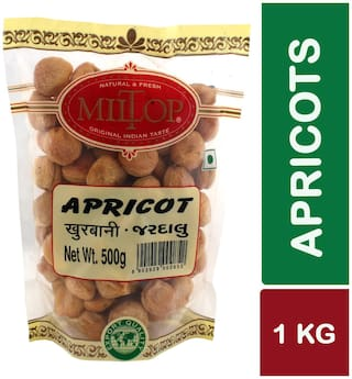 Miltop Apricots 500 G(Pack Of 2)