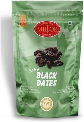 Miltop Black Dates Oman 500g (Pack of 2)