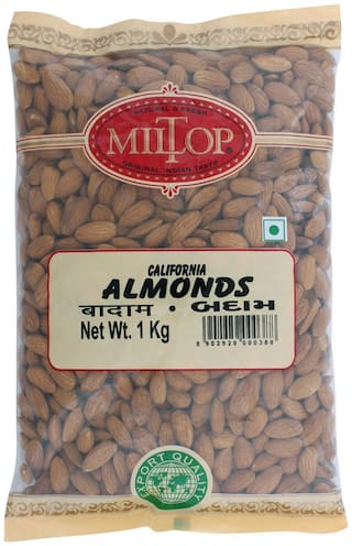 Miltop California Almonds 1000 G(Pack Of 2)