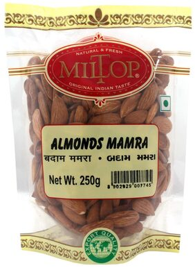 Miltop Mamra Almonds 250 G(Pack Of 2)