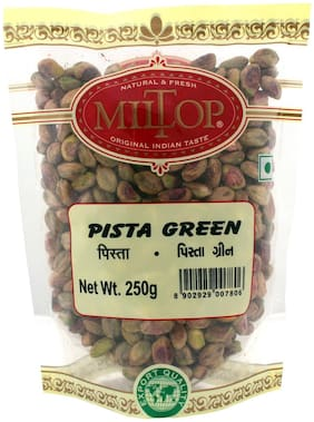 Miltop Pistachio Green Kernel Without Salt 250 G(Pack Of 4)