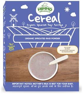 Mimmo Organics Sprouted Ragi Porridge Mix 100% certified organic; No Sugar;No Milk 200 g  ( Pack of 1 )