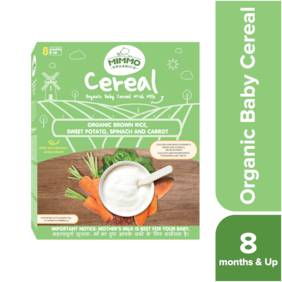 Mimmo Organics Baby Cereal Organic Brown Rice Sweet Potato;Spinach & Carrots 200 g ( Pack of 1 )